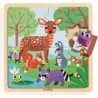 Djeco Drevené puzzle Lesné zvieratká