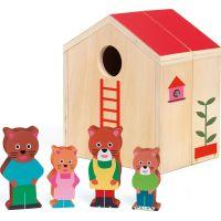 Djeco Drevený domček pre mačacie rodinku