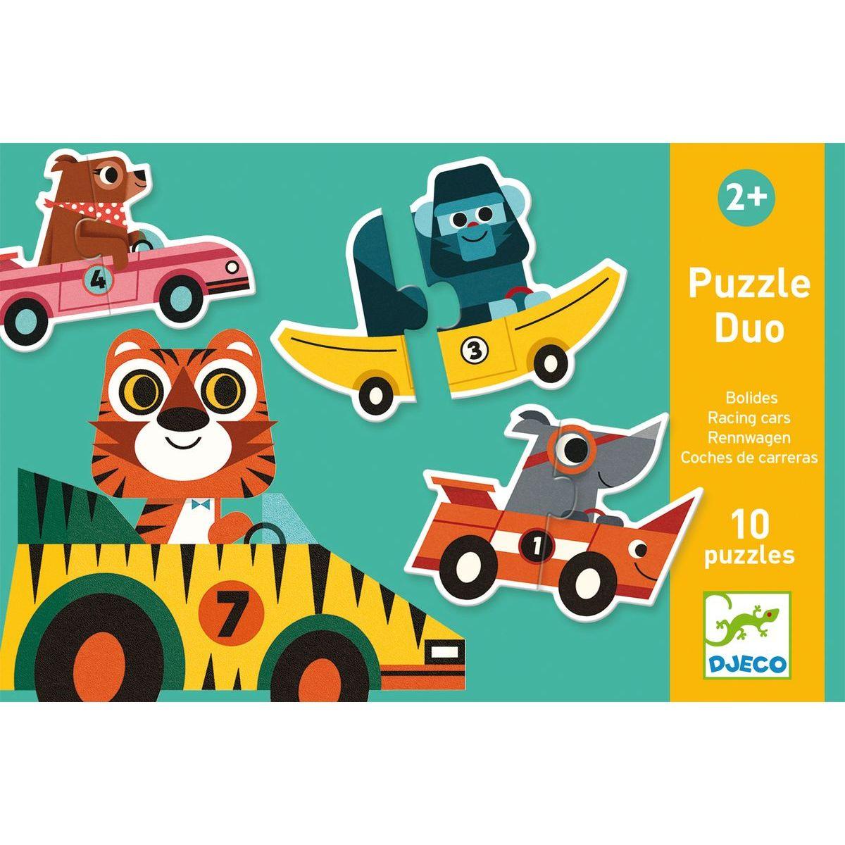 Djeco Duo puzzle Pretekárske autá