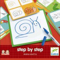 Djeco Kreslenie Krok za krokom Zvieratká