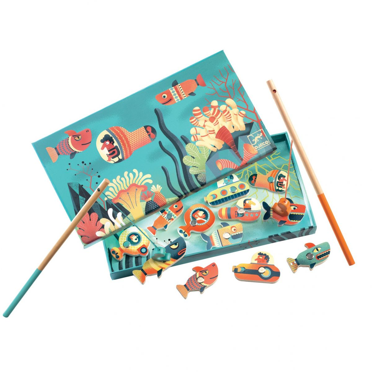 Djeco Magnetická hra Rybaření Žraloci