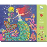 Djeco Mozaikové obrázky s drahokamy Mořské panny
