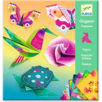 Djeco Origami neonové Tropy