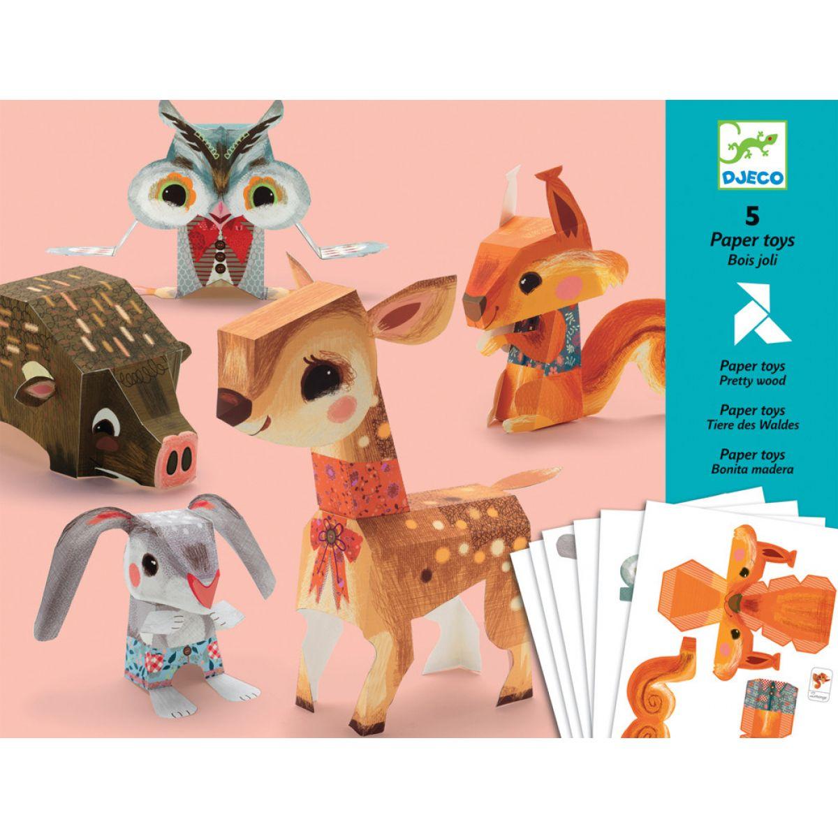 Djeca Origami skladačka Lesné zvieratká