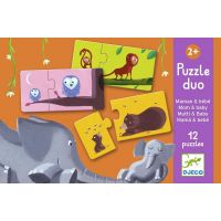Djeco Puzzle duo Nájdi mláďa