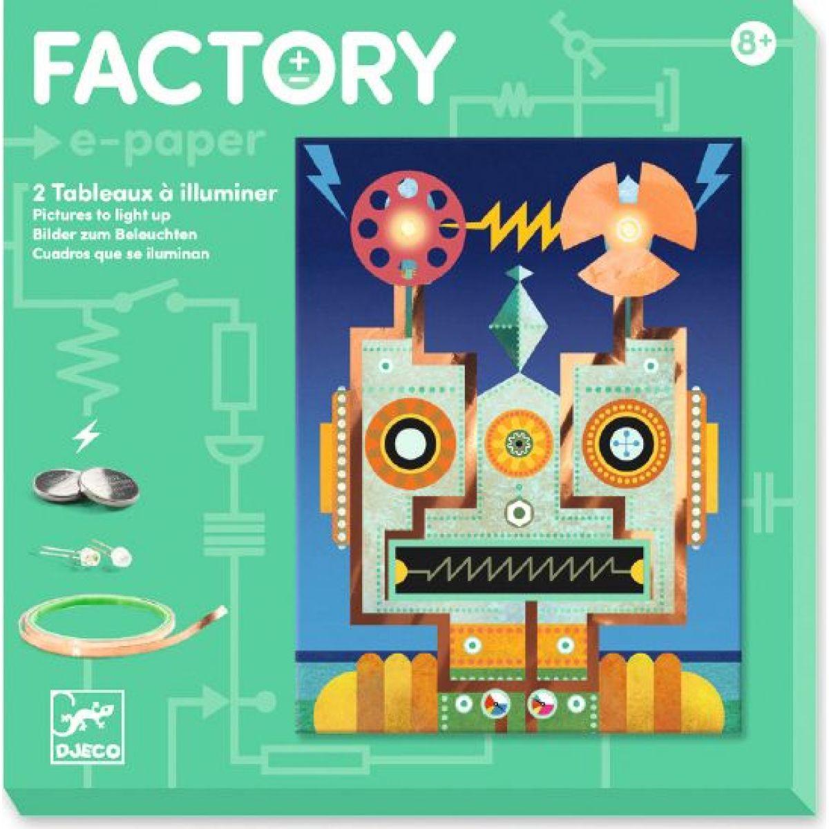 Djeco Svetielkujúce obrázky Roboti