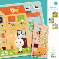 Djeco Trojvrstvové puzzle Králičie chalúpka