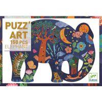 Djeco Veľké puzzle Rozprávkový slon 150d