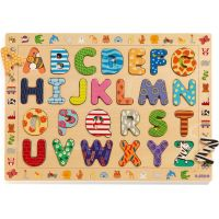 Djeco Vkladacie puzzle abeceda so zvieratkami