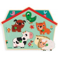 Djeco Vkladacie puzzle Domáce zvieratká