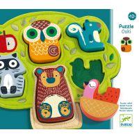 Djeco Vkladacie puzzle Oski