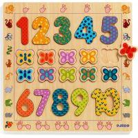 Djeco Vkladacie puzzle Počítanie s motýlikmi