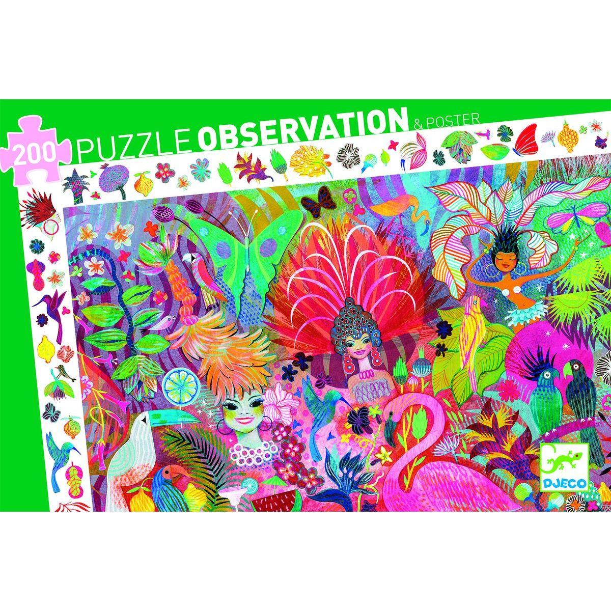 Djeco Vyhľadávací puzzle Karneval v Riu