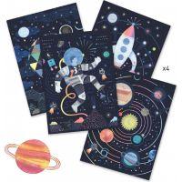 Djeco Vyškrabávací obrázky Vzhůru do vesmíru 2