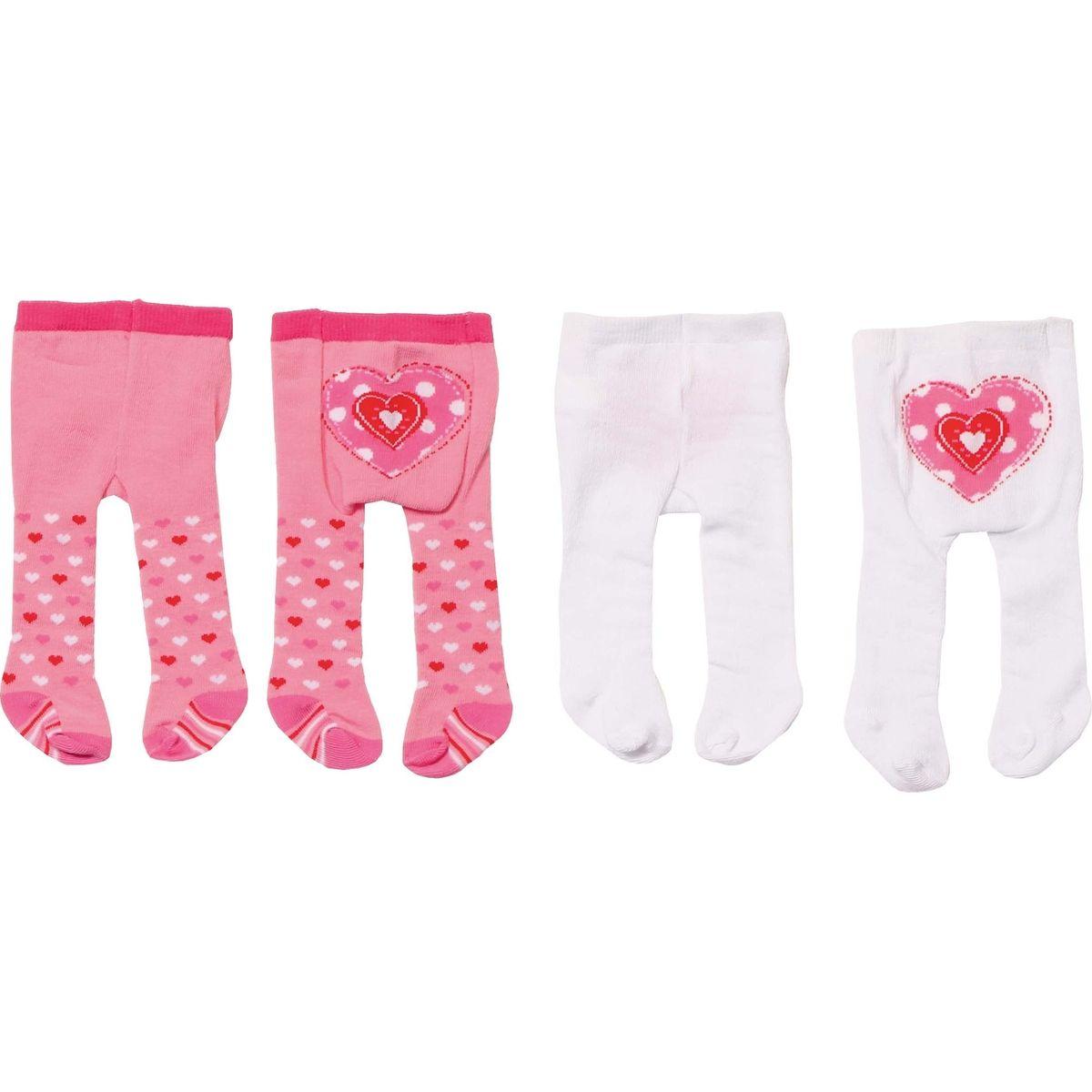 Zapf Creation Dolly Moda Punčocháče 2 ks biele a ružové