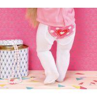 Zapf Creation Dolly Moda Punčocháče 2 ks biele a ružové 3