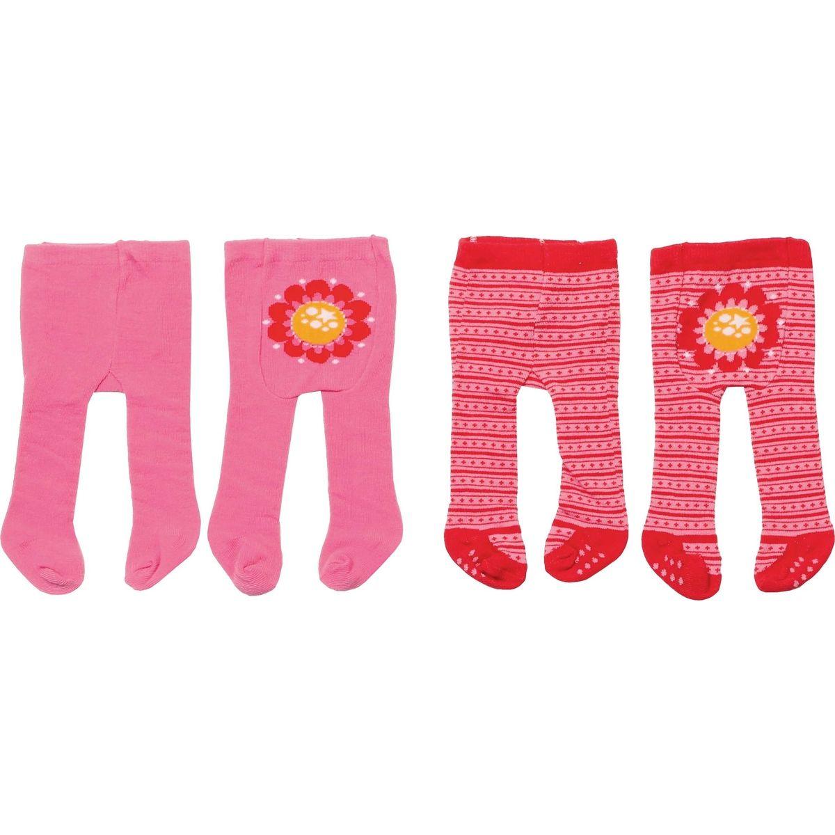 Zapf Creation Dolly Moda Punčocháče 2 ks - ružové a červené