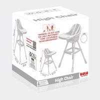 Dolu Detská jedálenská stolička biela 3