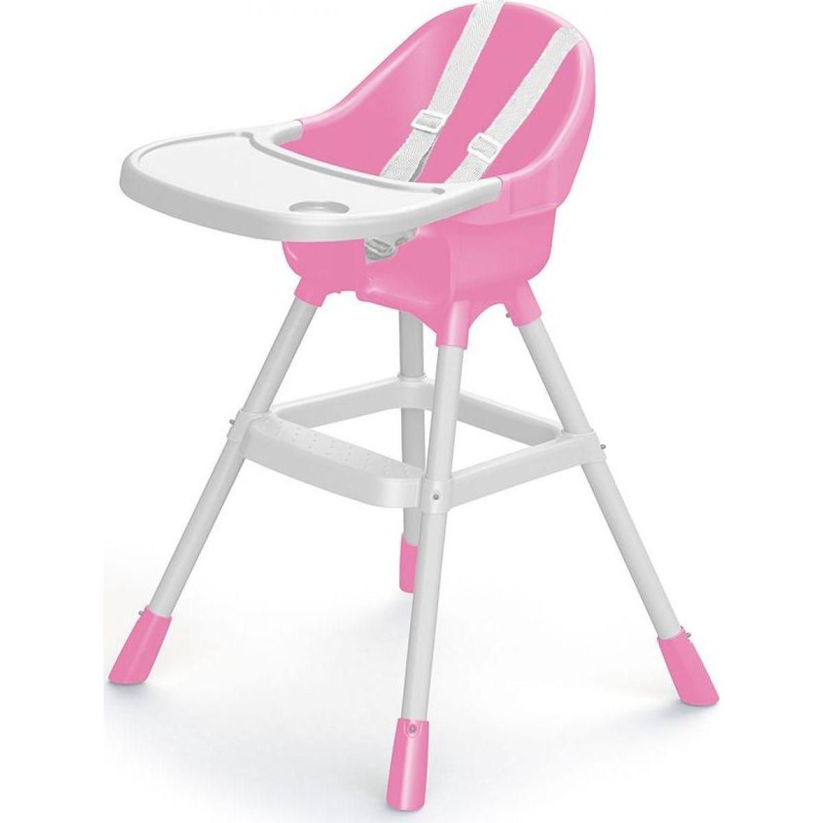 Dolu Detská jedálenská stolička ružová