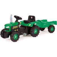 Dolu Detský traktor šliapací s vlečkou zelený