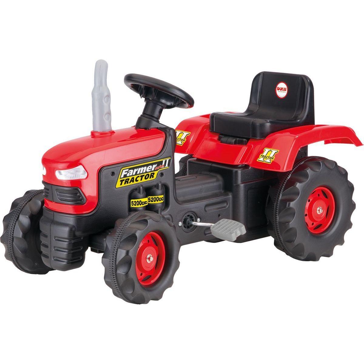 Dolu Veľký šliapací traktor červený