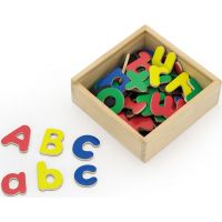 Viga Drevená magnetická písmená v krabičke