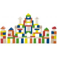 Dřevěná stavebnice 100 kostek