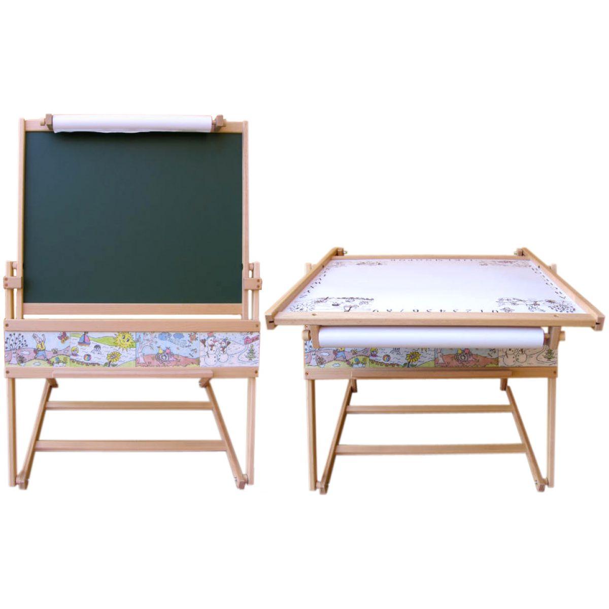 Drevená tabuľa a stolík 2v1