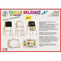 Dřevěné hračky Jaroš Tabuľa skladacia A magnetická 3