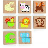 Viga Drevené magnetické puzzle Zvieratká