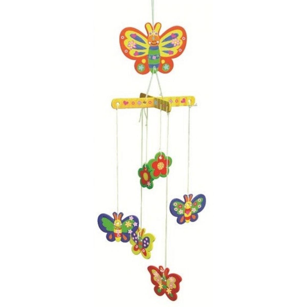 Drevené puzzle hojdacia záves 20 x 15 cm motýľ