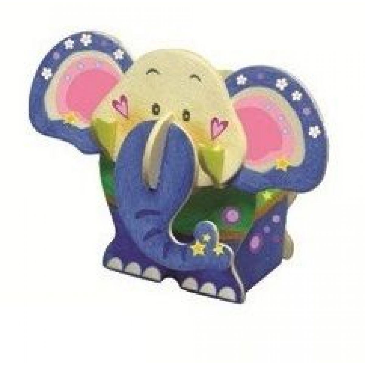 Drevené puzzle stojanček 20 x 15 cm slon