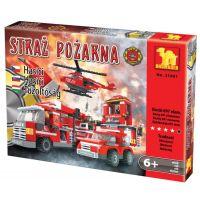 Dromader 21901 Hasiči Auto+Vrtulník+Stanice 697ks