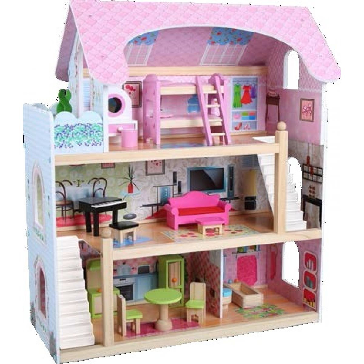Dom pre bábiky 16 ks nábytku