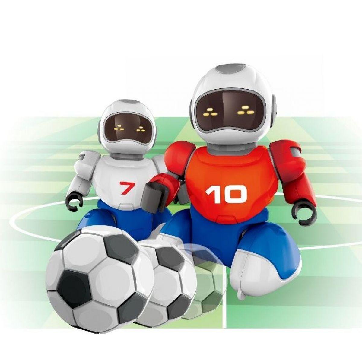 Dva Roboti s loptičkou na diaľkové ovládnu a dvoma gólmi