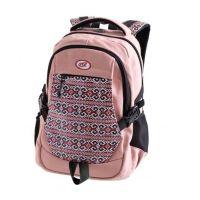 Easy Batoh študentský ružový čierne zipsy