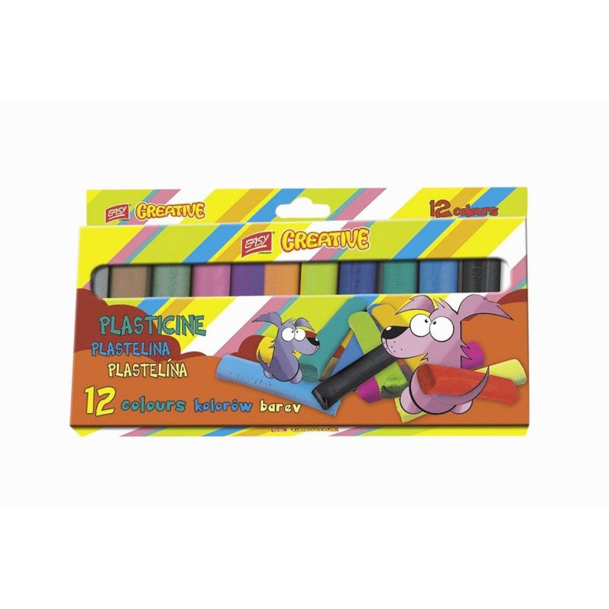 Easy Creative plastelína 12 farieb 192g