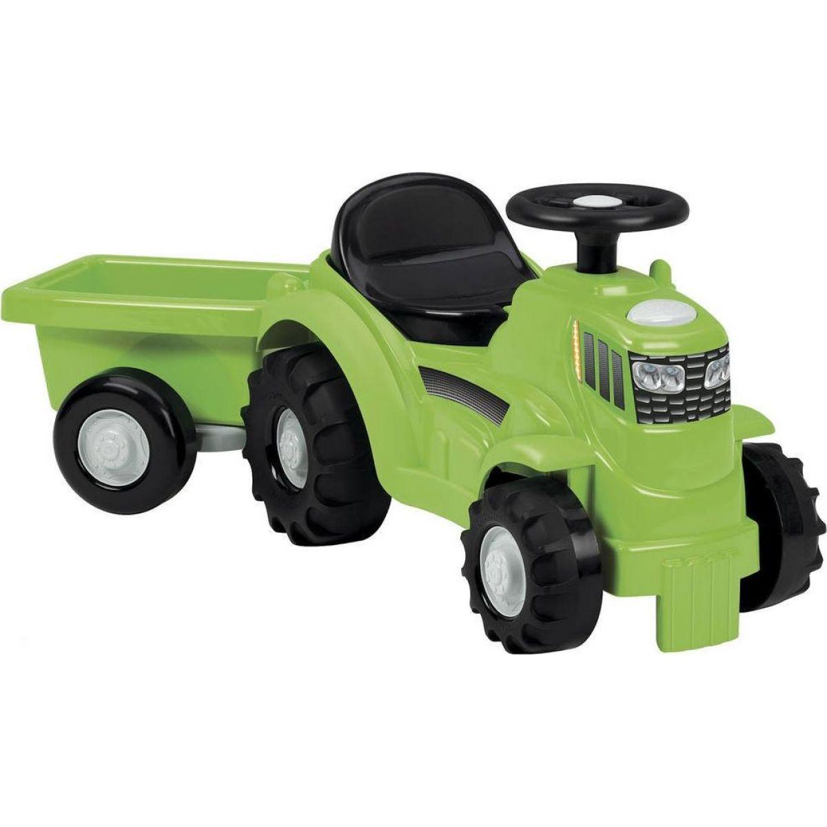 Odrážadlo Traktor s vlečkou zelené