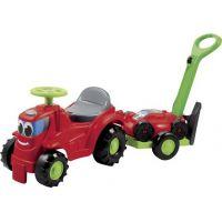 Ecoiffier s vozíkem a sekačkou