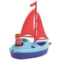 Ecoiffier Plachetnica 22,5 cm s námorníkom modrá