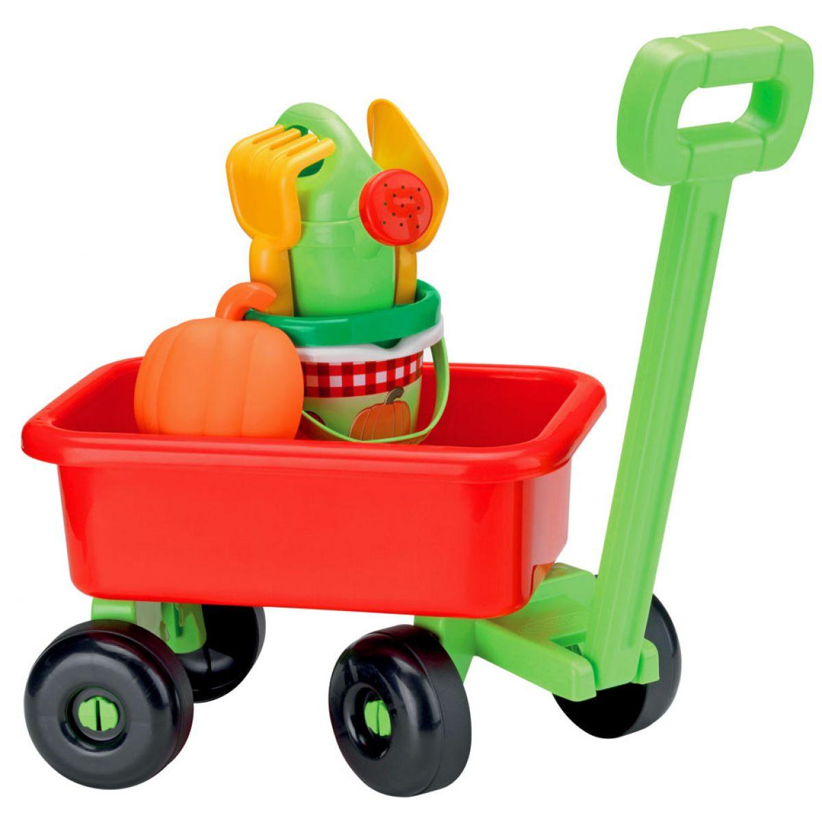 Ecoiffier Retro vozík s krhličkou a príslušenstvom