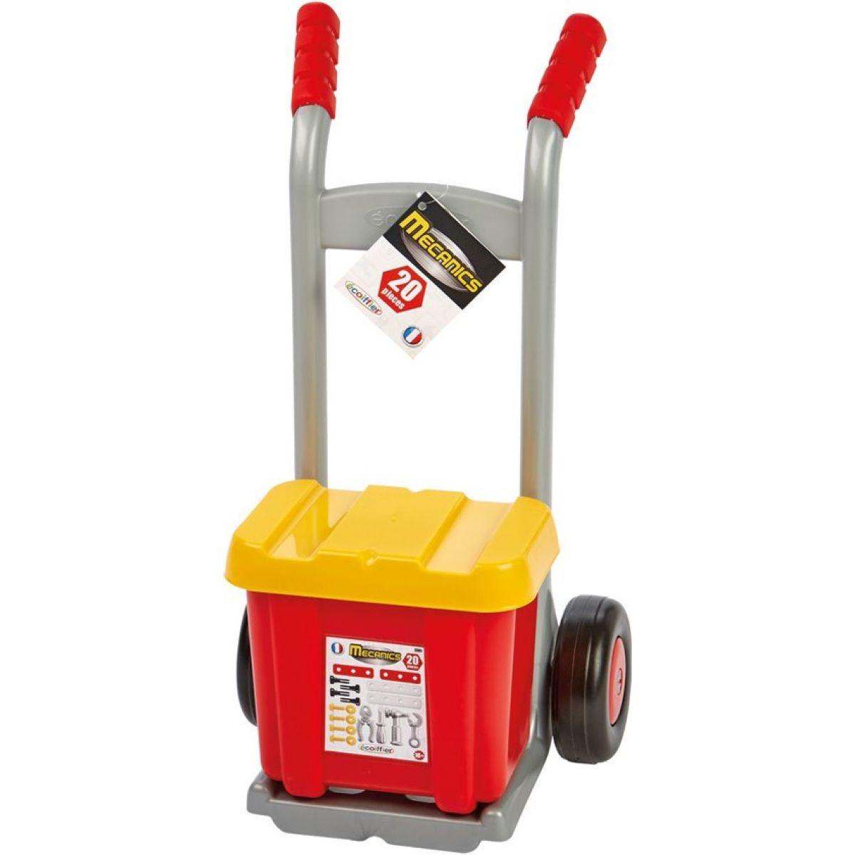 Ecoiffier Vozík s boxom s náradím 20 doplňkov