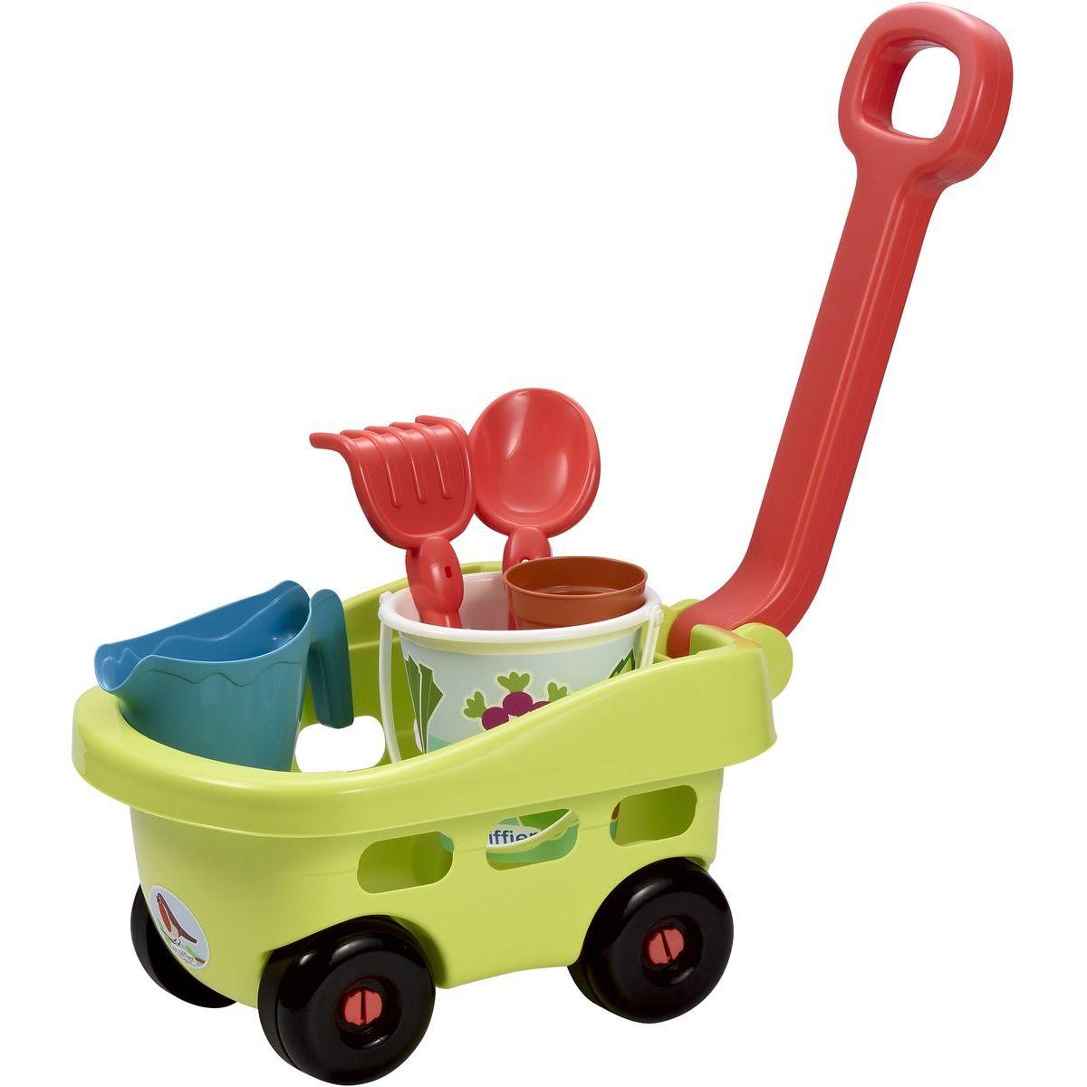 Ecoiffier Záhradný vozík s vedierkom a prísl.