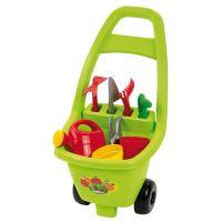 Ecoiffier Záhradný vozík s náradím kvetináčmi a kanvičkou