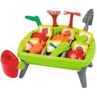 Ecoiffier detská záhradka s formičkami zelená