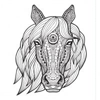 Kone maľovanky 2