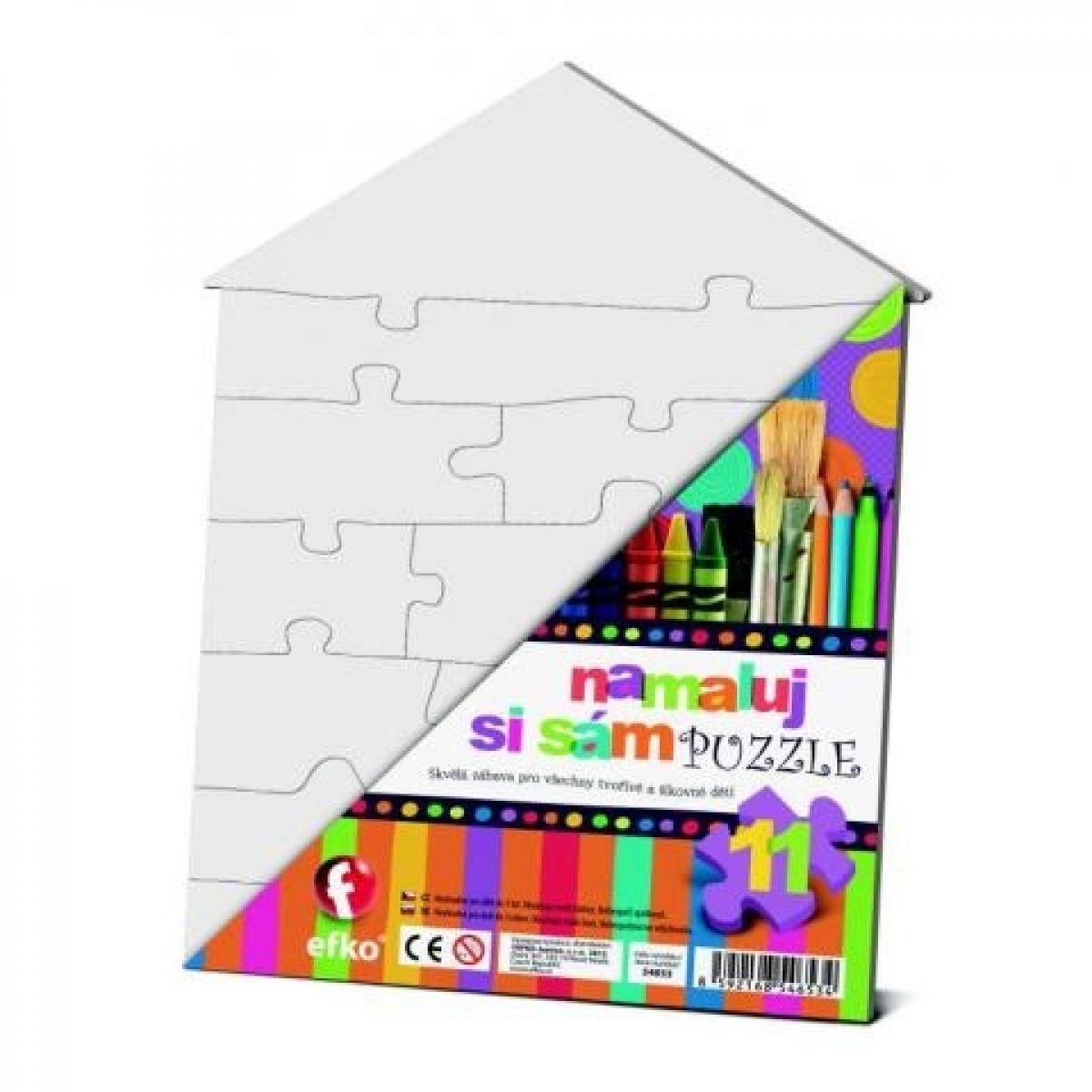 Efko Namaľuj si sám puzzle domček