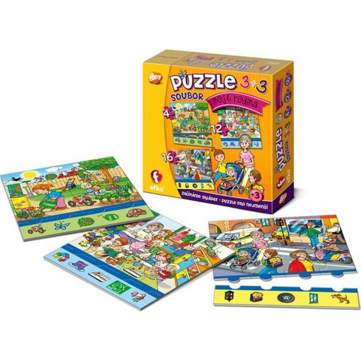 Efko Súbor puzzle 3 v 1 Moja rodina
