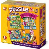 Efko Súbor puzzle 3 v 1 Moja rodina 2