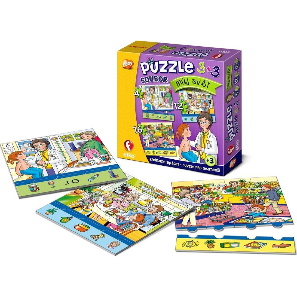 Efko Súbor Puzzle 3 v 1 Môj svet